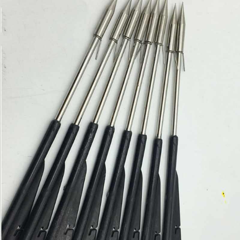 5pcs carregado seta peixe resina com facada farpado de aço inoxidável slingshot catapult dardos habilidade fotografar peixes para instrumentos de pesca