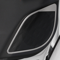 Door Inner Speakers Cover Trim Stainless Steel 1pcs Matte For Toyota C HR 2016 2017 2018 car styling accessories