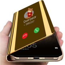 Inteligentne lusterko etui z klapką obudowa do xiaomi czerwony mi uwaga 4 4X5 6 7 Pro 6A 7A Y1 K20 iść skórzane obudowa do xiaomi mi 8 Lite 9 SE 9T 5X 6X A2 tanie tanio Odporna na brud Anti-knock Podpórka 4X Redmi Nocie Redmi Note 4 Mi 5X Redmi Uwaga 5 Pro Xiaomi A2 Mi A1 Redmi Note 5 Redmi 6