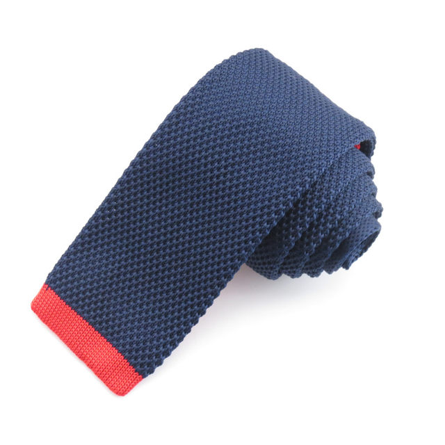 Online Shop Knitting Necktie For Mennavy And Yellow Head Patchwork