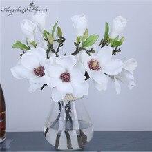 artificial flower Short branch mini magnolia  flores artificial wedding silk  interior DIY wedding home Christmas decor flower
