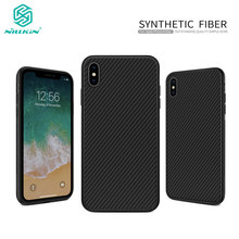 Case for iPhone XS Max Nillkin Synthetic Fiber Carbon Fiber PP Plastic Back Cover sFor iPhone Xs Max Case