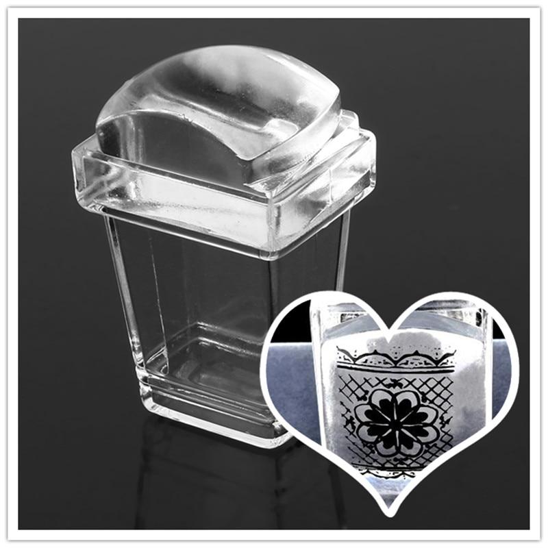 Clear Soft Jelly Stamper Transparent Nail Stamp Scraper Stamper Transfer Stamping Plate DIY Tools  цены