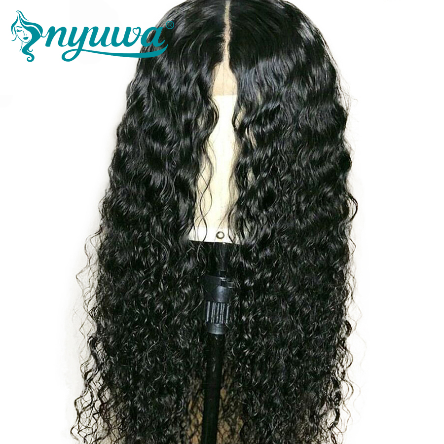 NYUWA 360 Lace Frontal Wig Pre Plucked With Baby Hair Water Wave Brazilian Human Hair Lace Front