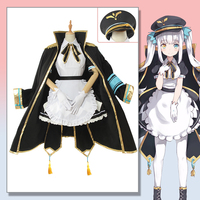 Anime YouTuber Project Paryi Vtuber Kagura Mea Cosplay Costume Women's Maid Black/White Uniform Dress Full Set
