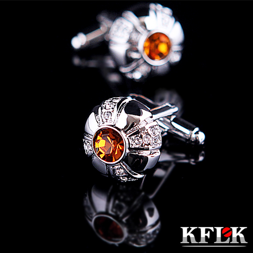 3 Colors KFLK 2020 Luxury shirt cufflink mens gift Brand cuff button - Fashion Jewelry