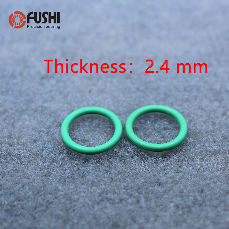 50pcs 2.4mm Thickness Silicon Rubber 8-28mm OD Red Heat Resistance O Ring