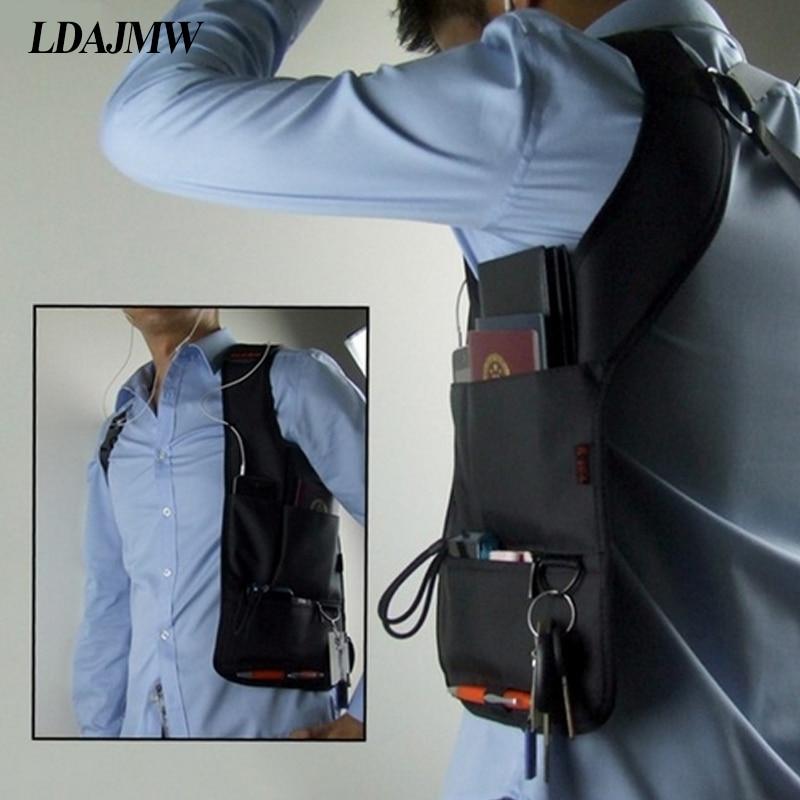 LDAJMW Cool Men Agent Storage Bags Armpit Waist Messenger Shoulder Crossbody MP3 Phone Key Purse Travel Camping Riding Bags ...