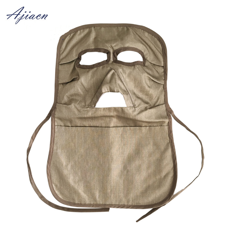 Image 3 - Ajiacn Recommend electromagnetic radiation protection mask Protect the face and protect the thyroid EMF shielding long face mask-in Masks from Security & Protection