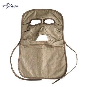 Image 3 - Ajiacn ממליץ אלקטרומגנטית קרינת הגנת מסכת להגן על פנים ולהגן על בלוטת התריס EMF מיגון ארוך פנים מסכה