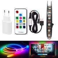 RGB индивидуально адресуемых СВЕТОДИОДНЫЙ свет под кабинет ws2812 IC 60 Светодиодный s/M кухонный шкаф Smart Светодиодный лампа Pixel для ТВ диод лента