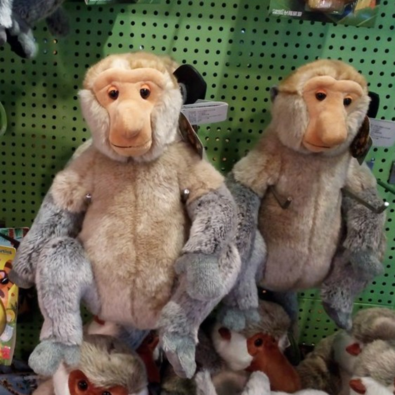 16-30cm Nasalis larvatus Monkey Toy Proboscis Monkey Stuffed Animals Plush Toy 30cm stuffed