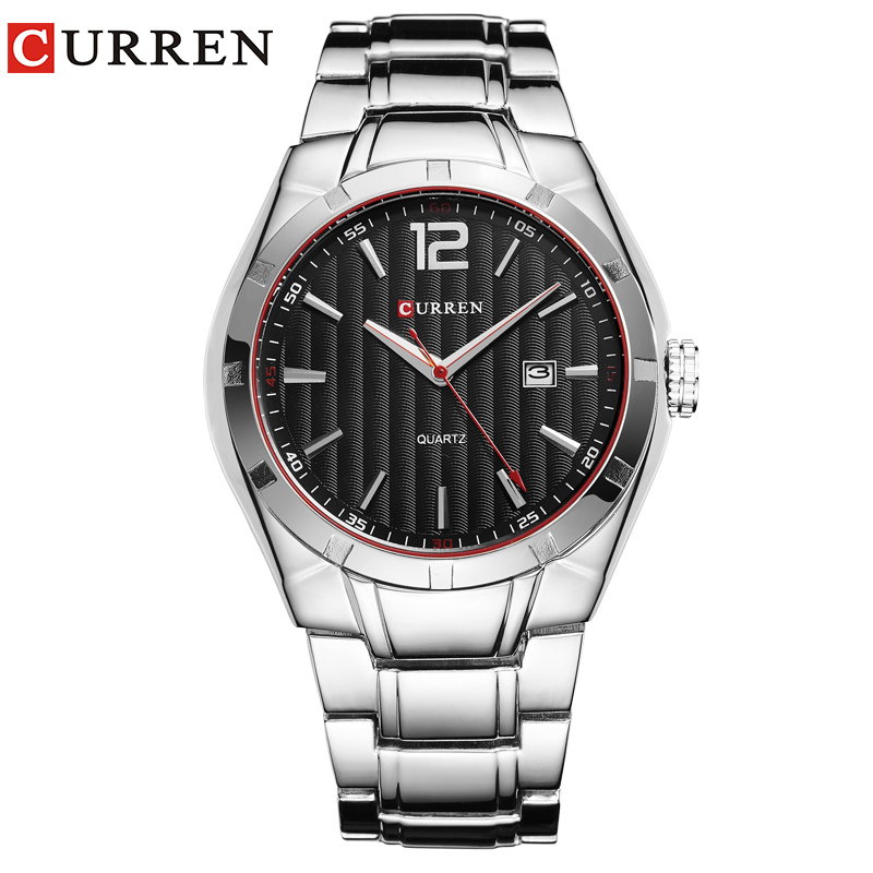 CURREN 8103 Luxury Brand Analog Display Date Mäns Quartz Watch - Herrklockor