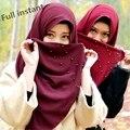 Nueva Marca de Moda Grueso de la burbuja de gasa de cuerpo entero mujeres del abrigo del mantón de la bufanda Musulmán hijab islámico cq985 instantánea bandana abaya
