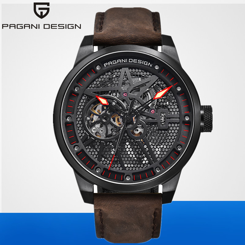 PAGANI DESIGN Fashion Luxury Brand Watch 2019 Men Leather Sports Mechanical Automatic Waterproof Watches Relogio Masculino