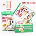 Genuino 50 hojas blancas fuji instax fujifilm instax mini 8 película Para 8 50 s 7 s 90 25 Compartir SP-1 Cámaras Instantáneas