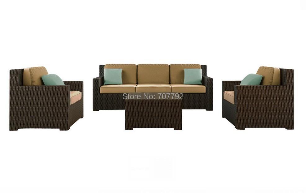2017 Hot Sale Black Rattan Cheap Outdoor Wicker Furniture Rattan Sofa