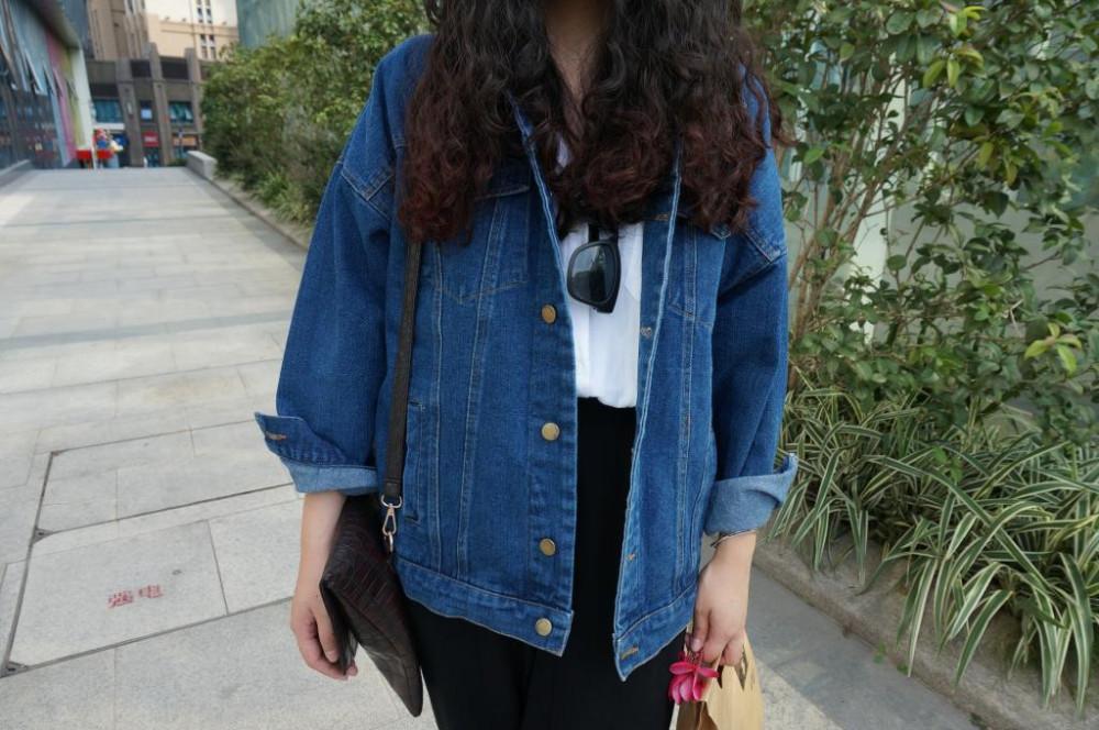 Bf Wiatr Jesienią I Zimą Kobiet Kurtka Dżinsowa 2017 Rocznika Harajuku Oversize Luźne Kobiet Jeans Płaszcz Solidna Slim Chaquetas Mujer 5