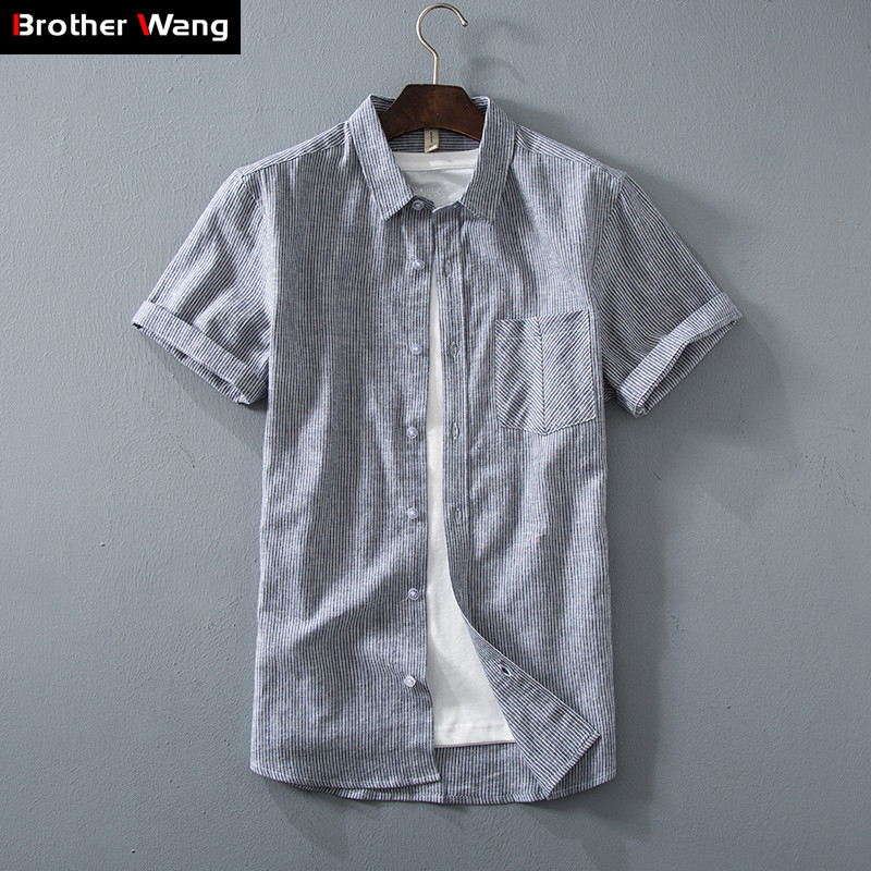 Flax Fivepence Shirt Outdoors Sports Gongfu Jogging Travel Male Chinese Style Pankou Mianma Sleeve Mens Wear Inch Thin Clothes Special Summer Sale Orologi E Gioielli