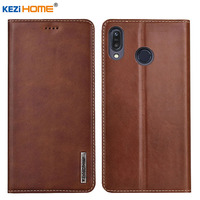 Case for Asus Zenfone Max M1 ZB555KL KEZiHOME Luxury Genuine Leather Flip wallet Cover for Asus ZB555KL Phone cases