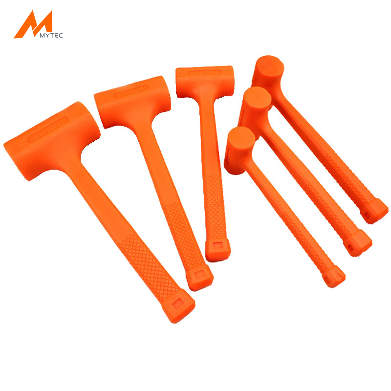 0.5-4LB Dead Blow Mallet Orange Soft Rubber Unicast Hammer
