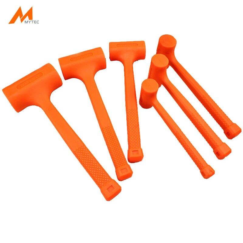 Молоток из мягкой каучуковой резины оранжевого цвета, 0,5-4 фунта