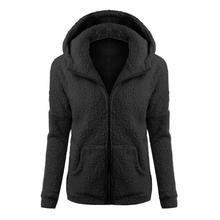 2018 New Women Winter Fleece Jacket Womens Thicken Warm Coat Female Windproof Po