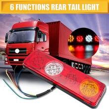 2 шт. для прицепа Caravan грузовик задний свет лампы 6 Функция 36LED Водонепроницаемый 36leds свет лампы 12 В