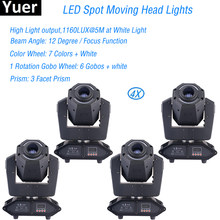 4Pcs/Lot Professional Stage Light 75W Spot Moving Head Lights 14X0.2W RGBW LED DMX512 Sound DJ Disco Party Stage Light Equipment(China)