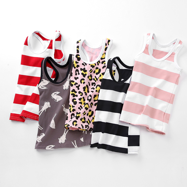 SheeCute 2-pack chindren Sleeveless T Shirt girls boys Undershirts Tank Top A Shirt 0932 4