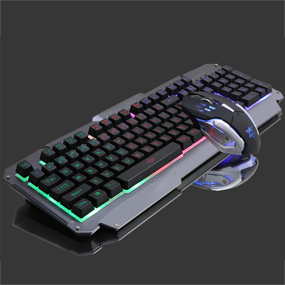 Colorful Backlit Gaming Keyboard and 6D Optical Mouse Combo Business Office USB Wired Keypad Mouse Suit for Desktop Laptop PC original logitech g102 gaming wired mouse optical wired game mouse support desktop laptop support windows 10 8 7