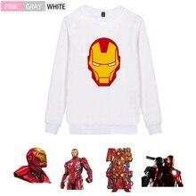 Marvel Movie Iron Man Pattern Trendy O-NECK Cotton Sweatshirts leisure Leisure Unisex Jersey A193291