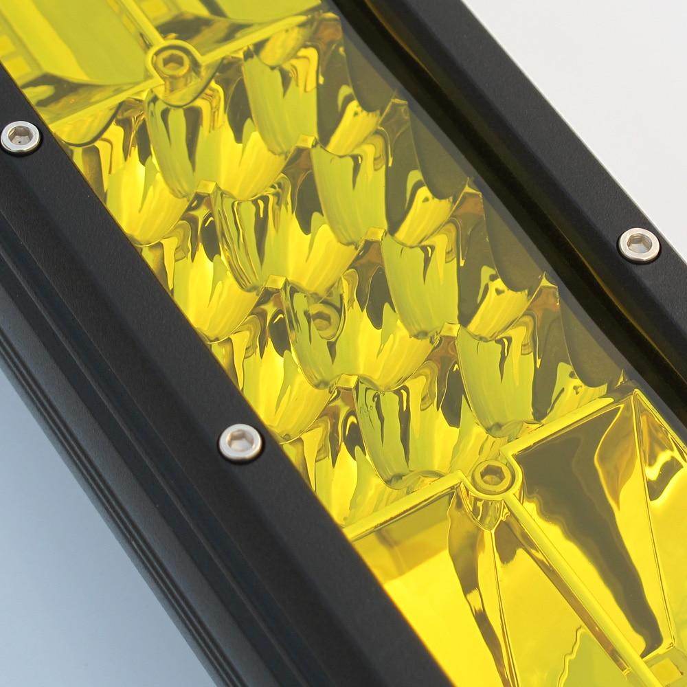 20 インチの黄色の Led 4 × 4 オフロードオフロード用 4WD トラック、 Suv ATV トレーラーコンボビームアンバーワークライトフォグランプ  グループ上の 自動車 &バイク からの ライトバー/ワークライト の中 2