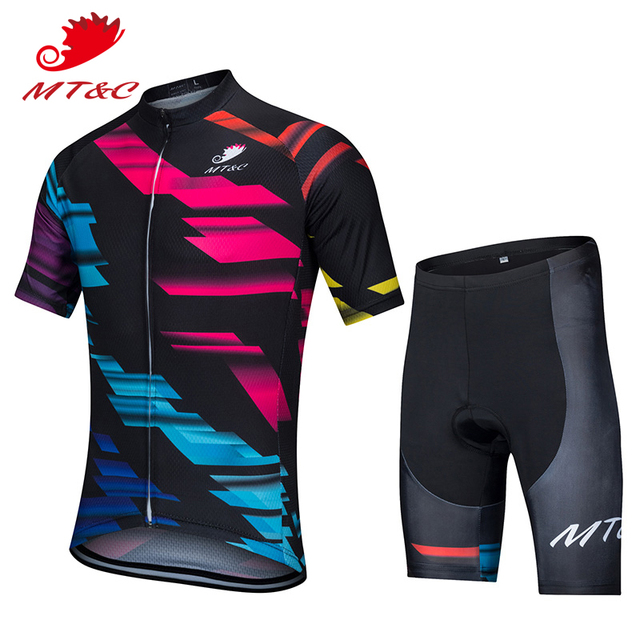 4b21fead7 MT C Cycling Jersey Set Red Blue Lightning Breathable Clothes Quick Dry 9D  Gel Pad Bicycle Spring Summer Sportswear Bike Clothes