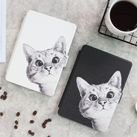 Case For Kindle Paperwhite Sketch Cat Series Smart Auto Sleep Wake PU Leather Cover For Amazon