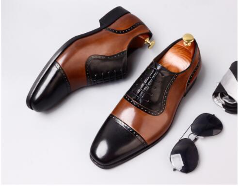 Cuir Bullock Mariage Partie Véritable Dentelle up Robe Couture Pic As Pour Falt Oxford Rétro Mode De Sculpté Hommes Formelle Chaussures 5ZaqT