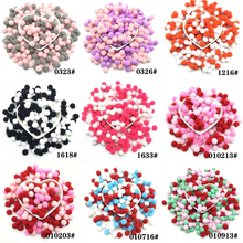 Multi Colors Pompom 10mm 400pcs Soft Pompone Plush Ball Crafts DIY Pom Poms Home Decor Handmade Material Craft Supplies