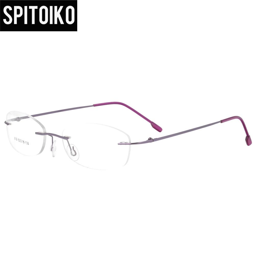 SPITOIKO kacamata rimless berengsel memori logam kacamata optik - Aksesori pakaian - Foto 4