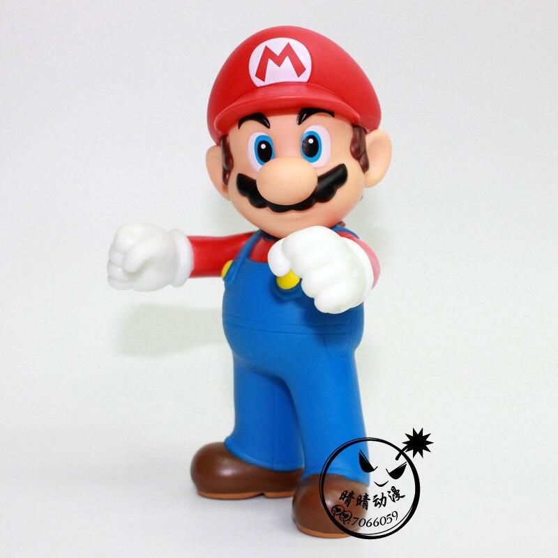 Super Mario Bros Pvc Action Figures 11cm Kawaii Red Mario Collection ...