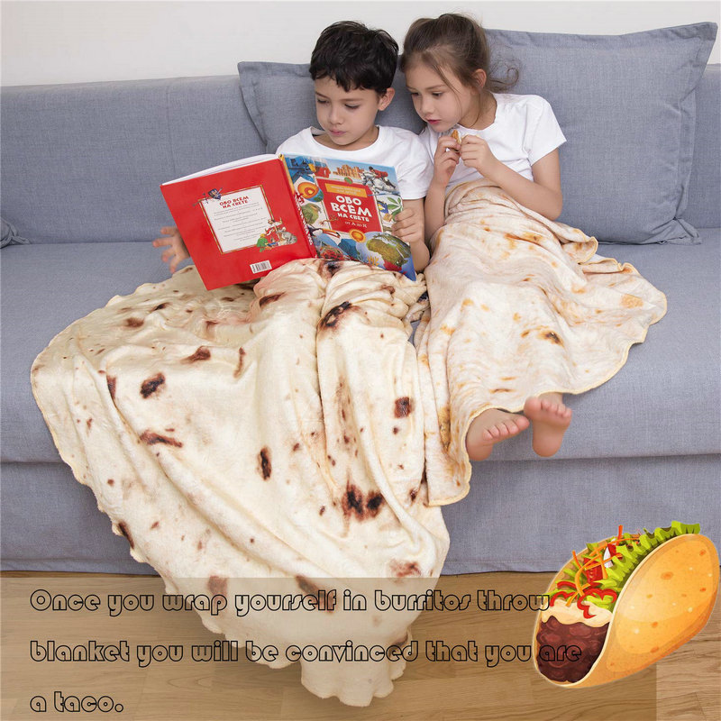 Comfortable And Soft Round Shape Burritos Blanket For Sofa and Bed Use 4