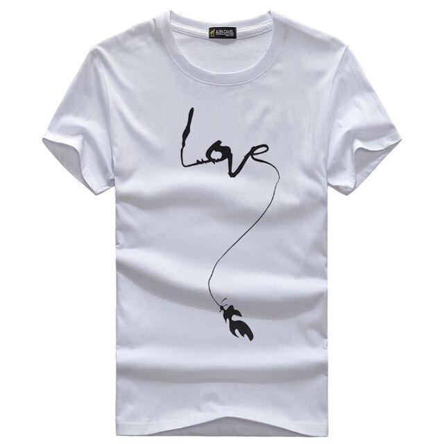 6bc2b6a61 Love the word printing design S - 5XL mens t shirts fashion 2015 casual  short sleeve