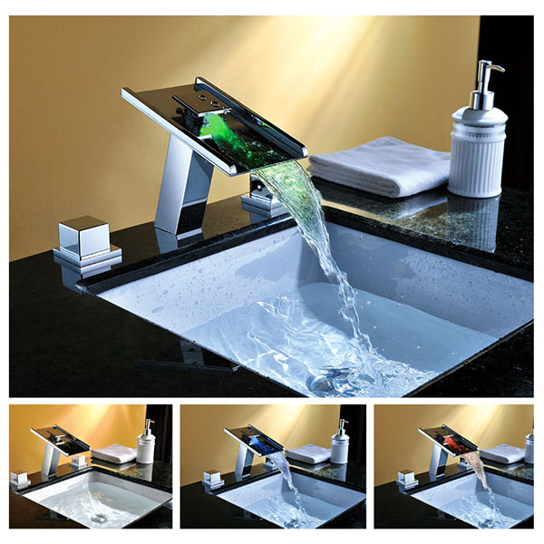 Bathtub Vessel Torneira 2014 New Water Tap Sink Bathroom Faucets Waterfall Chrome Basin Faucet L-28 Mixer Vanity Sinks Taps