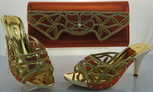 ร้อนขายรองเท้าอิตาลีจับคู่และถุงชุดสำหรับผู้หญิง,แฟชั่นแอฟริกันรองเท้าผู้หญิงและชุดกระเป๋าme1103 orangeสีในการขาย.