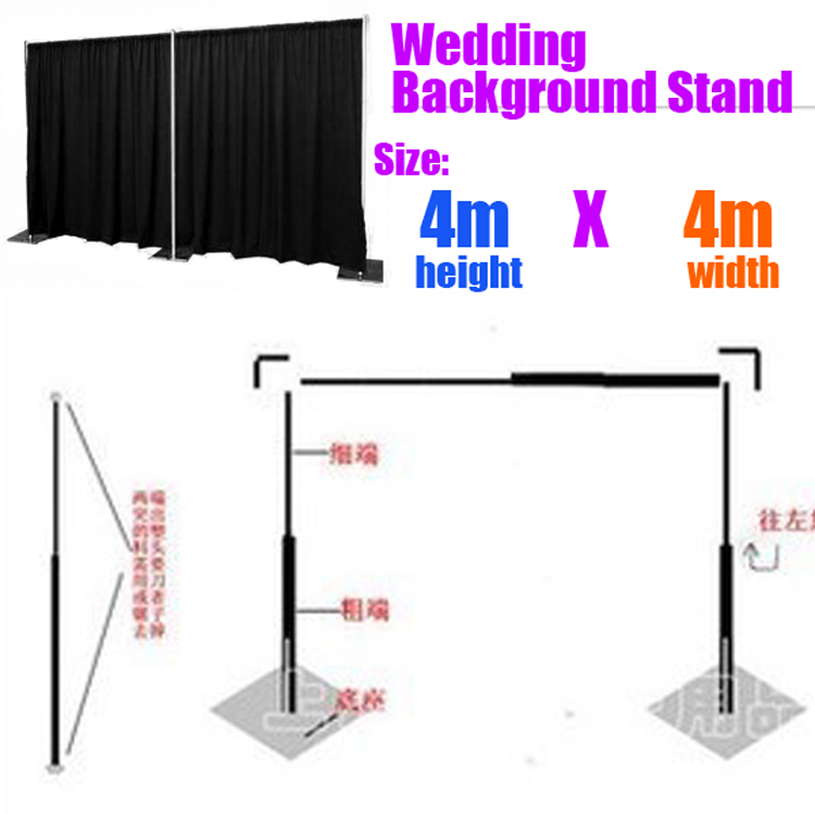 Extra Thicker Durable Adjustable pipe 4X4M Stainless steel galvanized wedding background frame wedding backdrop stand
