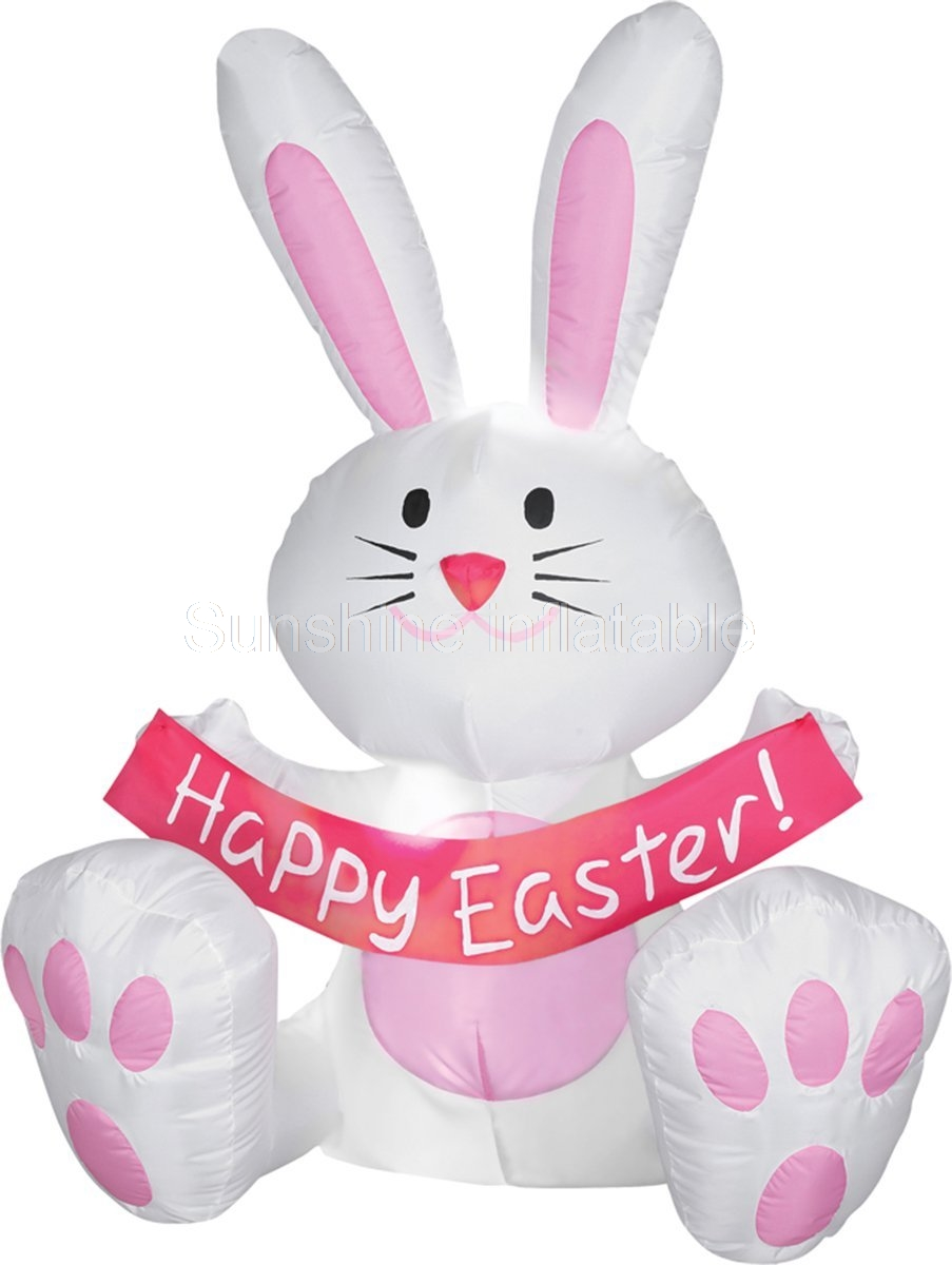 Us 398 0 2mh Morris Costumes Happy Easter Bunny Inflatables Decorations Prop Other Holidays In Inflatable Bouncers From Toys Hobbies On