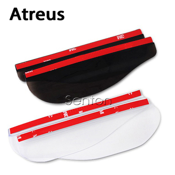 Atreus 2pcs/1pair Car Rain Eyebrow Styling Stickers For BMW e46 e39 e60 e90 e36 Mini cooper Audi a4 b6 a3 a6 c5 b8 b7 Accessorie image