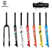 JimaiteamTURAY carbon fiber carbon fork bicycle 26 /27.5/29 ER mountain bike carbon fork front fork disc brake dual card T800