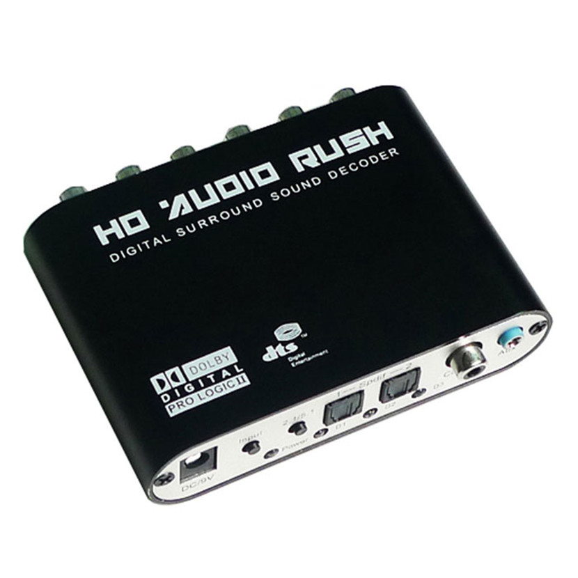 Del New SPDIF/Coaxial Digital DTS/AC3 5.1/2.1CH to Analog Audio Decoder Converter Mar10 digital ac3 optical to stereo surround analog hd 5 1 audio decoder 2 spdif ports hd audio rush for hd players dvd xbox360