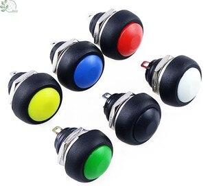 1Pcs 2Pin Mini Switch 12mm 1A waterproof switch pbs33b 12v momentary Push button Switch reset Non-locking pbs-33b