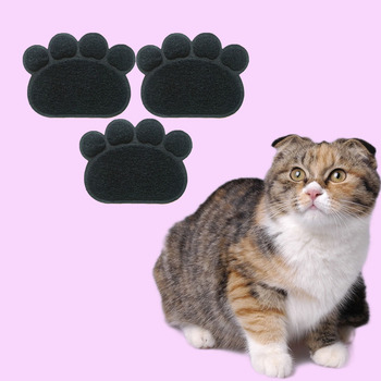 PVC Pet Dog Cat Feeding Mat Pad Cute Paw Pet Dish Bowl Feed Place Puppy Bed Blanket Table Mat Easy Wipe Cleaning 1